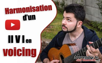Harmonisation d'un II V I en voicing
