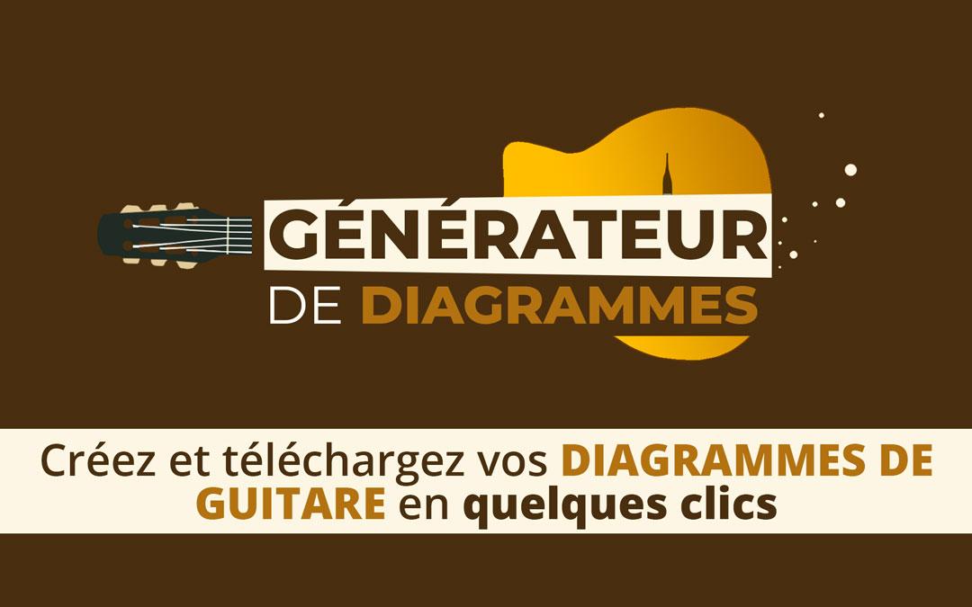 Le GÉNÉRATEUR DE DIAGRAMMES™  – Créez vos diagrammes de guitare